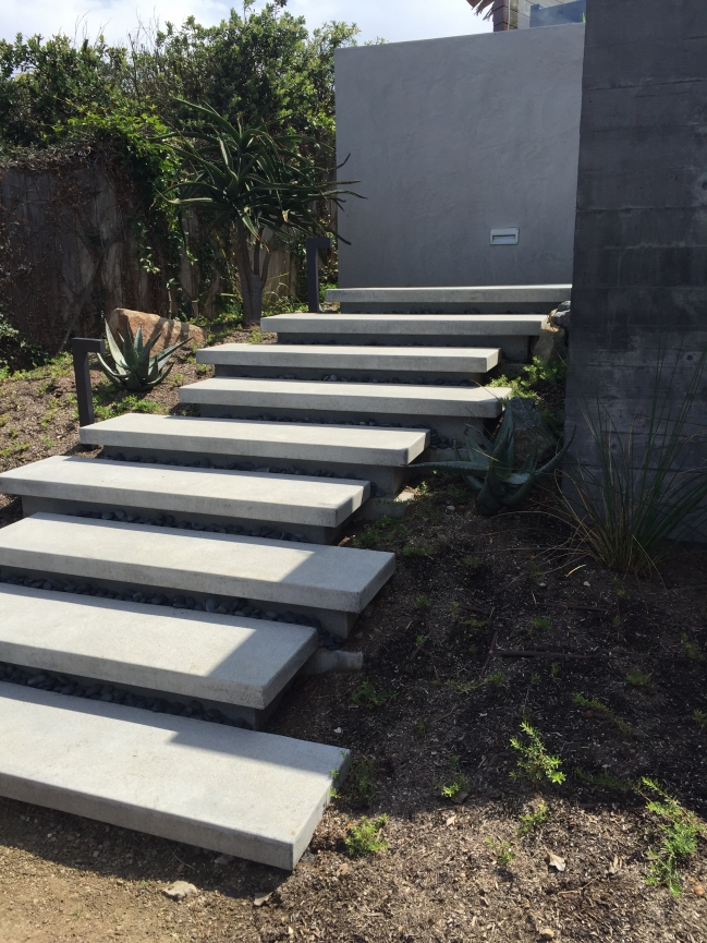 Floating stairs sage outdoor designs for Exterior stairs